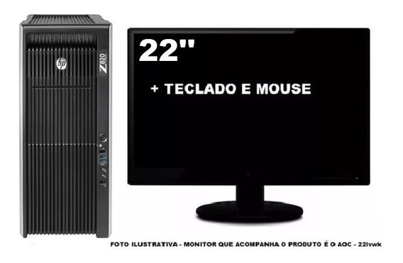 Workstation Hp Z820 2 Xeon Octacore 32gb 240gb Ssd + 1tb