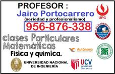 Profesor De Matemáticas Fisica Uni Clases A Domici(956876338
