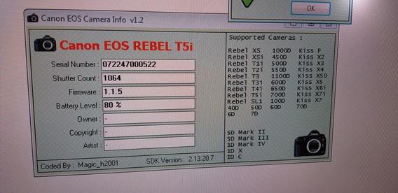 Câmera Canon Rebel T5i 18mp + 18-55mm Is Stm + 3 Baterias