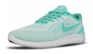 Tenis Nike Para Dama 23.5 Y 24 Cm Free Rn Verdecito