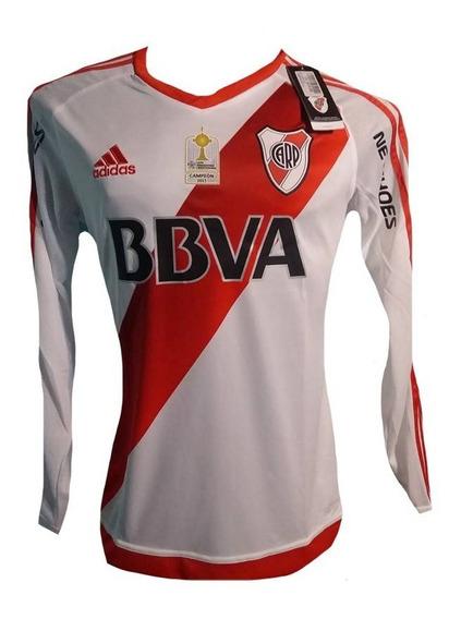 Camiseta De River Plate 2017 Manga Larga #23 Ponzio Maidana