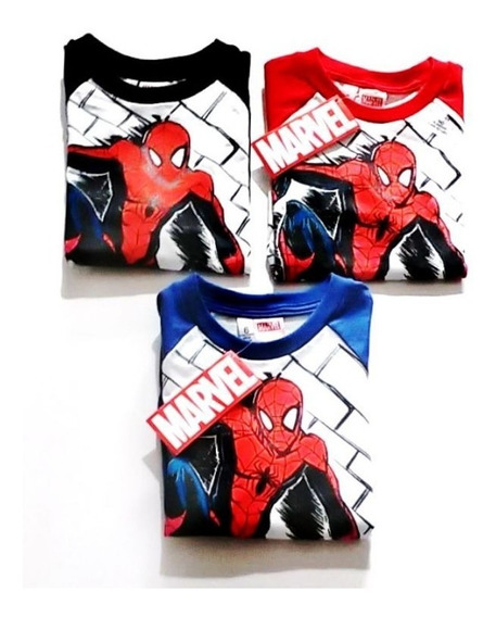Remera Spiderman Original Marvel Manga Larga Fty Calzados