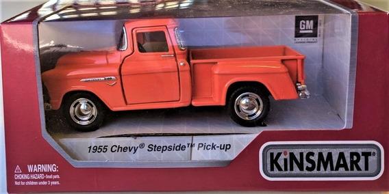 Auto Coleccionable Die-cast 1955 Chevy Stepside Pickup Naran