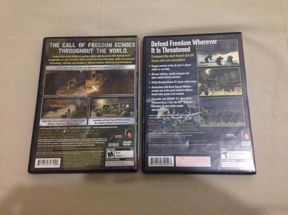 2 Jogos Ps 2 Socom 3 E Socom Combined Assault Frete Gratis