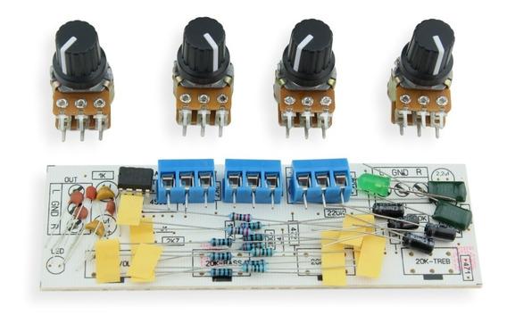 Kit Para Montar Pre Amplificador Stereo Grave Médio E Agudo