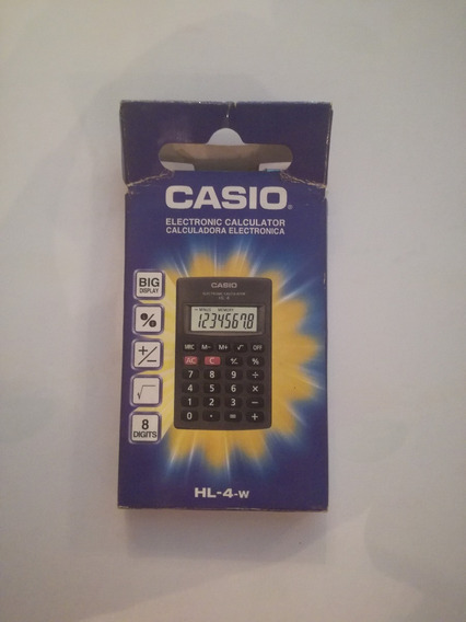 Calcuradora Casio 8 Digitos Hl-4-w
