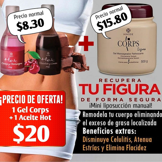 Corps Gel Reductor + Hot Hnd ¡¡¡¡promoción Combo $ 20.00!!!!