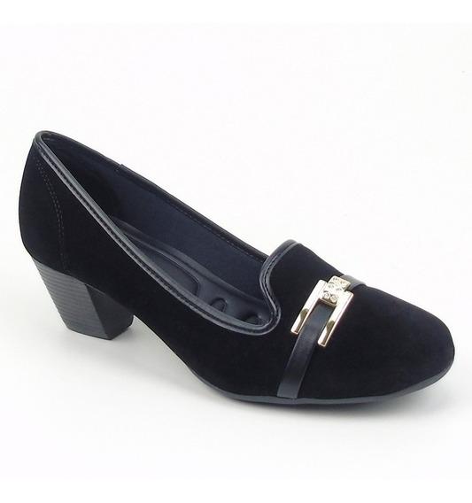 Sapato Feminino Com Salto De 5cm Azaleia Lev Promoção