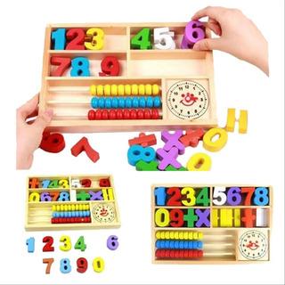 Juego Didactico Madera Montessori Abaco Calculador Educativo
