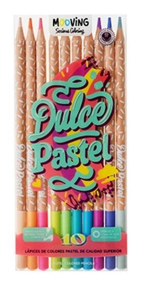 Lápices Pasteles De Colores Dulce Pastel X10 Unid Mooving