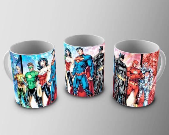 Caneca De Porcelana Justice League Hq