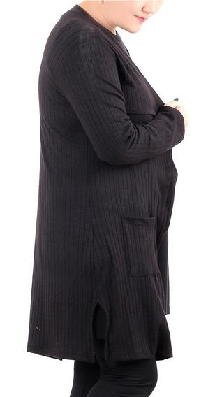 Saco De Morley Lanilla Largo Mujer Talles Grandes