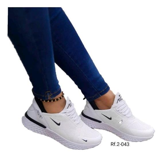 zapatos nike mujer blancos
