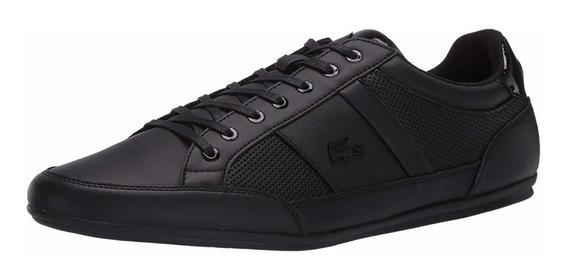 Tenis Para Hombre Lacoste Chaymon 120 Negro Casual Zapato