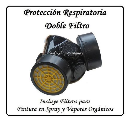 Mascara Protección Respiratoria Doble Filtro