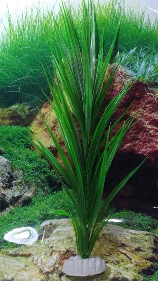 Planta Artificial Plástica Aquário E Lago Echinodorus 40cm