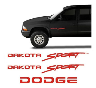 Kit Adesivos Dakota Sport Dodge Emblemas Laterais E Traseiro