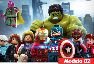 Painel Lona Heróis Marvel Lego Festa Aniversário Hulk