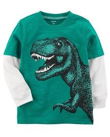 Camiseta Bebe Menino Carters Tam 12m 225h492