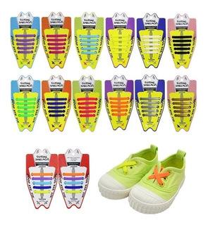 Pack 10×10=100 Unidad Cordones Elásticos Zapatillas Ofertas