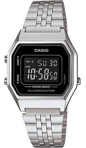 Relógio Casio Feminino La680 Negativo Retro Vintage