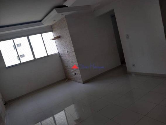 Apartamento Com 2 Dormitórios Para Alugar, 57 M² Por R$ 1.000,00/mês - Bandeiras - Osasco/sp - Ap7184