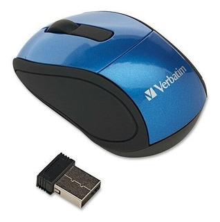Verbatim Wireless Mini Travel Optical Mouse - Blue
