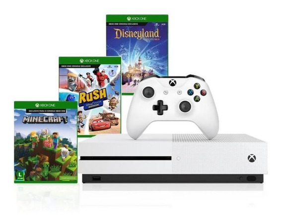 Xbox One S 1tb 4k 1 Controle Wireless Branco 3 Jogos Anatel