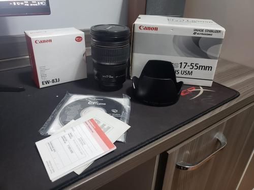 Lente Canon 17-55mm F/2.8 Is Usm + Parassol Ew 83-j