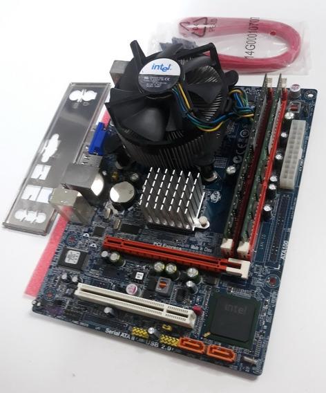Kit Placa Mãe Ddr3 G41 Processador Core2quad Q8300 4gb Mem