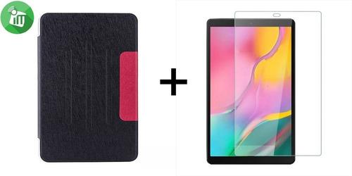 Combo Vidrio + Agenda Flip Case Samsung Tab A T510 10´ 2019