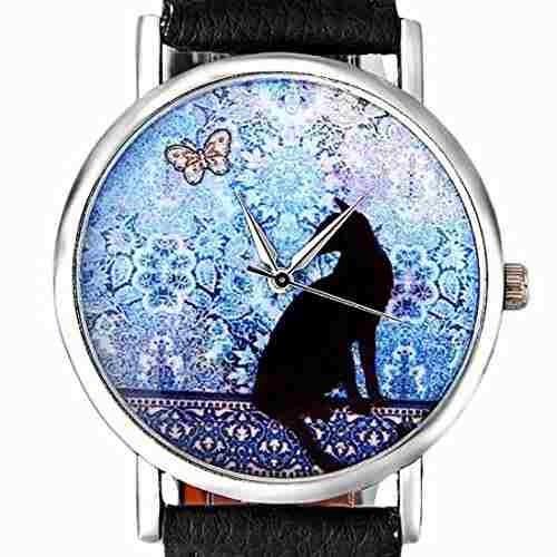 Reloj De Pulsera De Cuarzo De Ninasill Con Banda De Cuero De