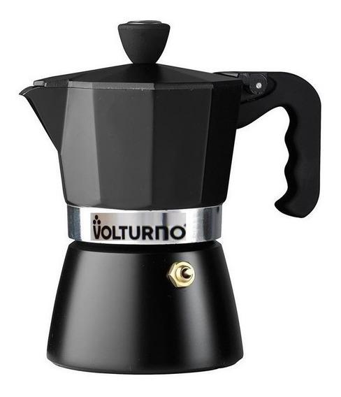 Cafetera Volturno Negra 3 Pocillos