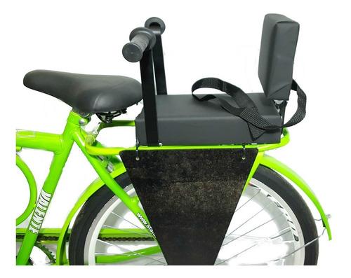 Imagem 1 de 4 de Cadeirinha Bike Assento C/ Almofada E Recosto + Bagageiro