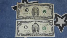 2 Billetes De 2 Balboas De 1995 Y 2013...comun Al Cel 6316-5