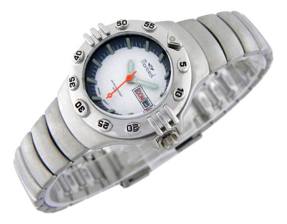 Reloj Montreal Mujer Ml485 Calendario Sumerg. Envio Gratis