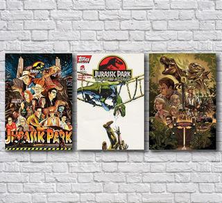 Placas Decorativas Jurassic Park Vintage Hq (conjunto)