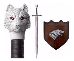 Espada Game Of Thrones Jon Snow Promoção Conj 4 Espadas