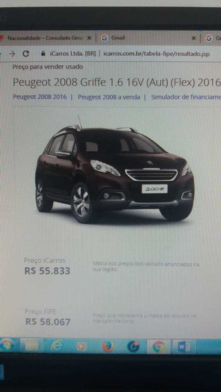 Peugeot 2008 Griffe 1.6 16v Automatico 2016