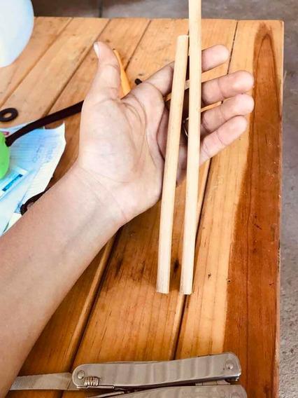 10 Popotes Ecológicos De Bambú Reutilizables