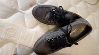 Zapato / Zapatilla De Nobuck Semi Nuevos Muy Poco Uso T 40