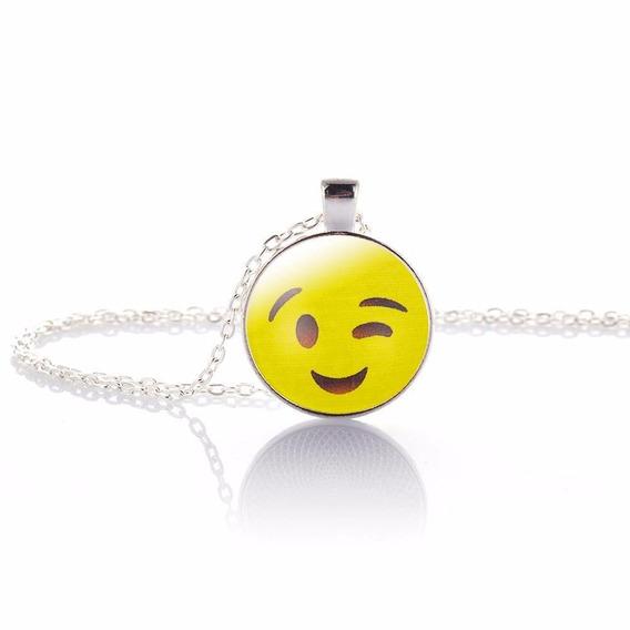 Collar Emoji - Emoticones - Dije Con Cadena - 12 Modelos