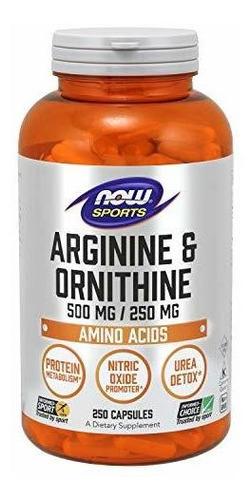 Arginina Y Ornitina 500/250 Mg - Unidad a $822
