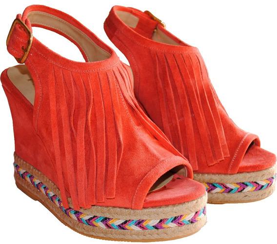 Zapato Mujer Sandalias Plataforma Coral Praxis 100% Cuero