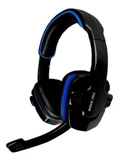 Audífonos gamer Eagle Warrior HS-501 negro y azul