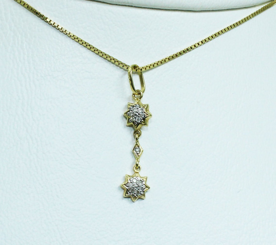 Pocao2005- Colar Ouro 18k Diamante Vivara 12x S/j Ft/gt C264
