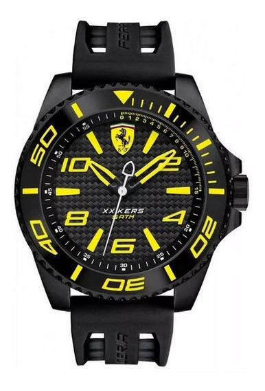 Reloj Ferrari Escudería Xx Kers Black Yellow Hombre 830307