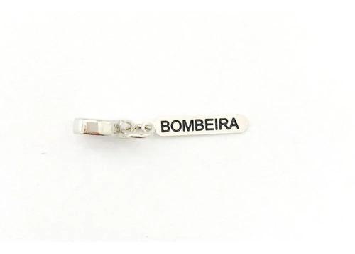 Imagem 1 de 1 de Berloque Bombeira - Bp_871