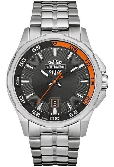 Relógio Bulova Masculino Harley Davidson Wh30500t Analogico