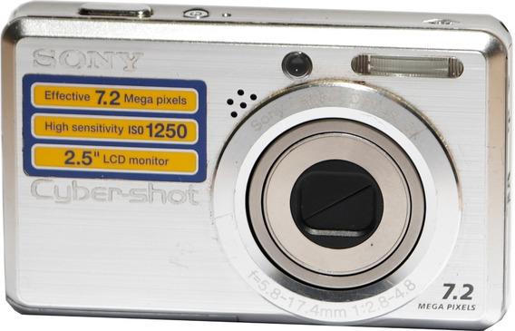 Câmera Sony Cyber-shot Dsc-s750 (quebrada, Retirada Peças)